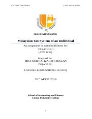 taxation assignment