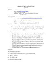 Syllabus-CS499-Senior-Design-Project-fall2009