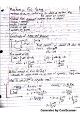 Mechanics - Gentroid of Area and Volume Notes