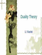 DUALITY THEORY.PPT