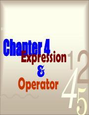 Chapter 4 - Expression and Operator.pdf