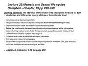 Lecture 22 and 23 meiosis