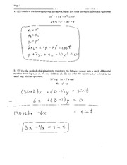 Exam 3 Solution Spring 2004 on Ordinary Differential Equations