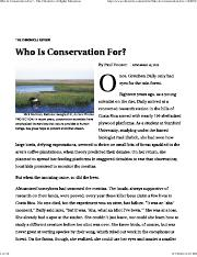 Who is Conservation For_The Chronicle of Higher Education.pdf