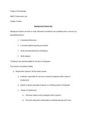 employment law chapter 5 notes