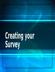 Creating your Survey
