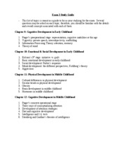 Exam 3 Study Guide Child Psych