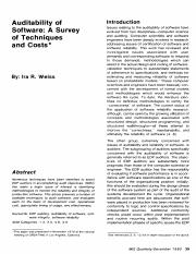 2. Auditability of software, a  survei of techniques and costs.pdf