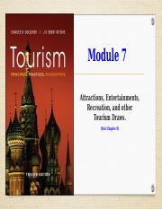 (2018 Fall) Module 7 (Notes) - Attractions, Entertainments, & Recreation.ppt
