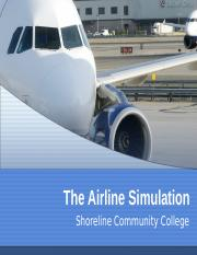 Airline Simulation.Introduction