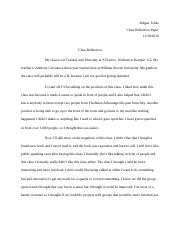 Class Reflection Paper
