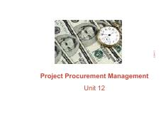 Unit 12 - Procurement