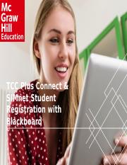 TCC Plus Connect and SIMnet Student Registration with Blackboard via Deep Integration.pptx