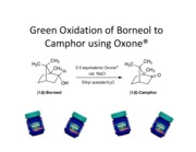 the green oxidation of borneol to camphor Denisse cuarteros laboratory 4b: green oxidation of borneol to camphor short response 1 in your own words explain oxidation (from an organic chemistry standpoint.