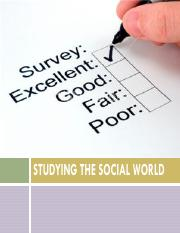 122f16-Studying the Social World