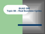 Topic 08 - Business Cycles(1)