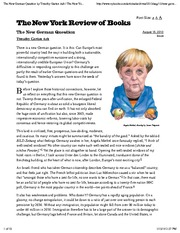 The New German Question by Timothy Garton Ash  The New York Review of Books