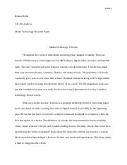 Hollie CIS 285 Media Technology Research Paper #1.docx