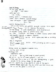 Chemistry Entholpy Notes