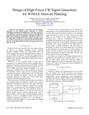 Design of High-Power CW Signal Generators for WiMAX Network Planning