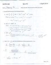 Math 180 Calculus I - Quiz #2