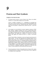 protein and their sythesis