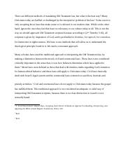 RLGN 325 FINAL EXAM ESSAY - OLD TESTAMENT LAW