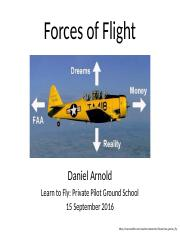 Forces of Flight Lecture