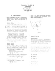 Lab 4 Answer Key Probability, Box model, Venn diagrams