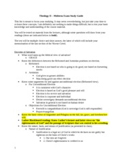 Midterm Exam Study Guide - 2013