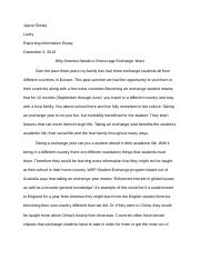 Olosky Reporting Information Essay.docx