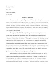 Final Essay - Esparanza's Theme