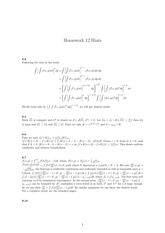 Homework 12 Solution on Real Analysis Fall 2014