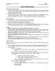 CHM 207 Exam 3 Review Sheet Morton F16
