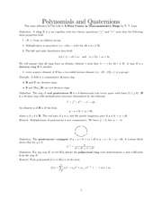 Polynomials_and_Quaternions_handout