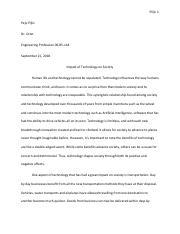 impact of technology on society pdf