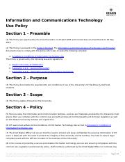 Week 3 - AUP - Deakin - ICT Use Policy.pdf