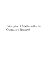 Principles of Mathematics in Operations Research 0387377344