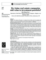 Do Asian real estate companies