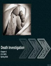 Chapter 6 Death Investigation
