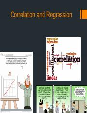 Correlation and Regression (1).pptx
