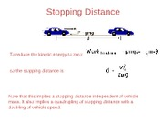 Stopping Distance Review