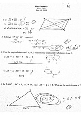 Honors Geometry Congruent Triangles Worksheet