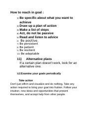 Be specific about what you want to achieve