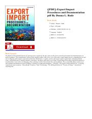ExportImport-Procedures-and- pdf - and a glossary of