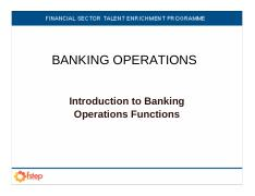 FSTEP BANKING OPERATIONS functions