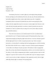 argumantative essay