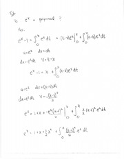 Formula for exponential function