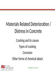 CEE 598S1 - L2-3 - Materials related distress in concrete.ppt