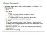 Mineral Economics with questions